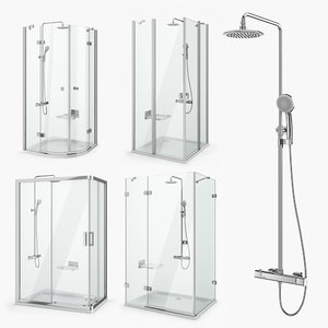 3D ravak shower set 18 model