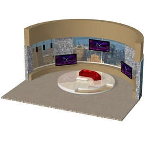 3D daytime talk set tv
