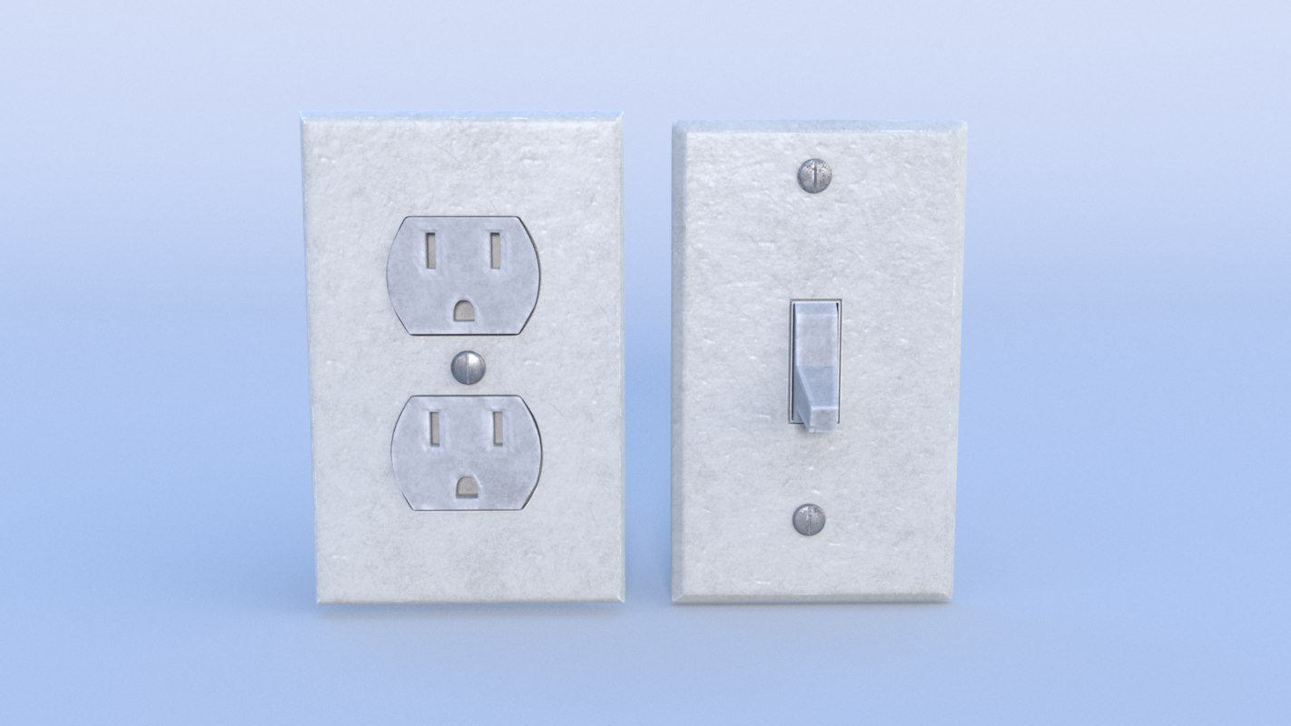 outlet switch 3D model