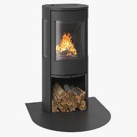 fireplace contura 556 3D model