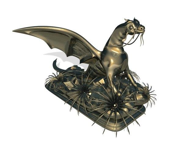 dragon furniture print 3D model