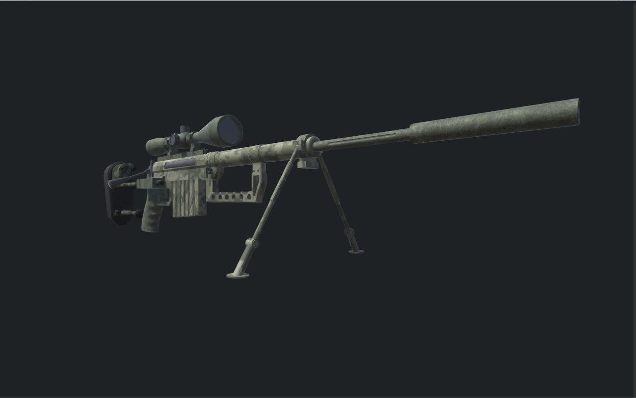 3D model sniper rifle