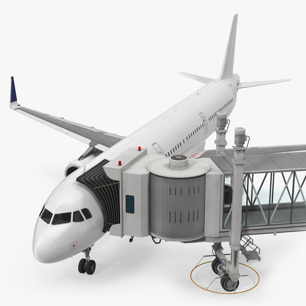 airport jetway passenger bridge 3D model