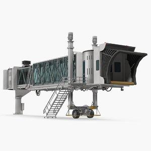 3D airport passenger boarding jetway