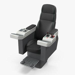 3D model commander marine seat