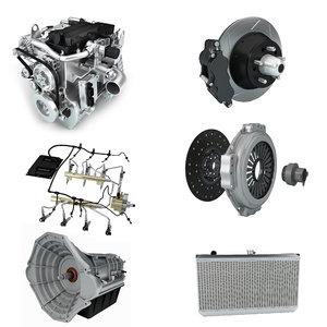 3D model brake engine motor