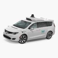 Self Driving Minivan Waymo NAIAS 3 Rigged