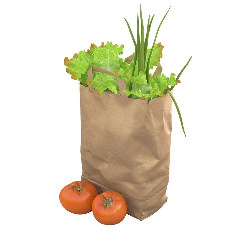 vegetables paper model