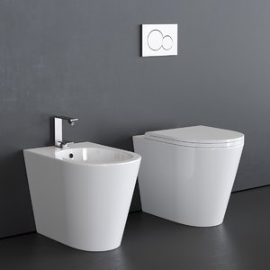 3D toilet icon bidet model