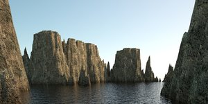 landscape - rocky islands 3D model