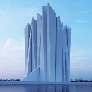 3D building office museum