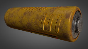 nuclear aa type battery 3D model