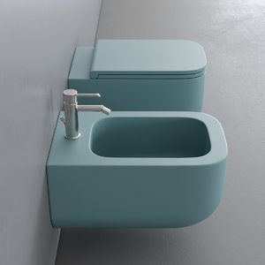 3D wall-hung toilet revolution bidet model