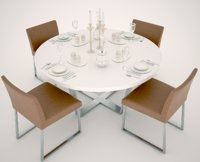 4 Person Round Table and Chairs