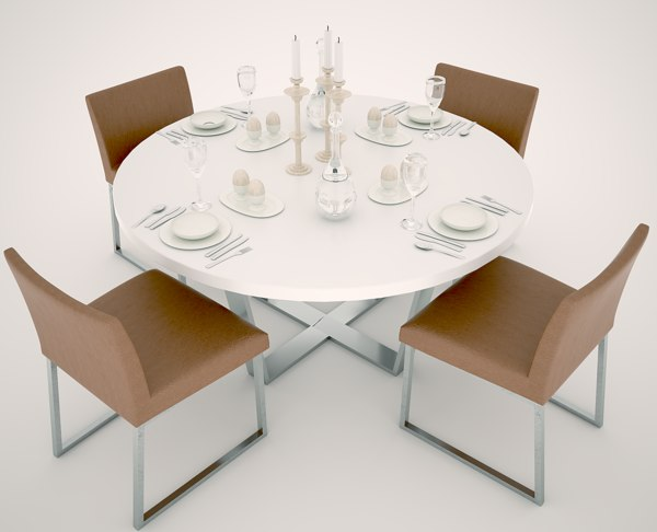 person dinning table chair 3D