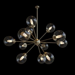 3D benites 12-light sputnik chandelier model