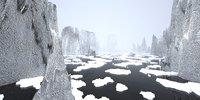 3D landscape - rocky islands