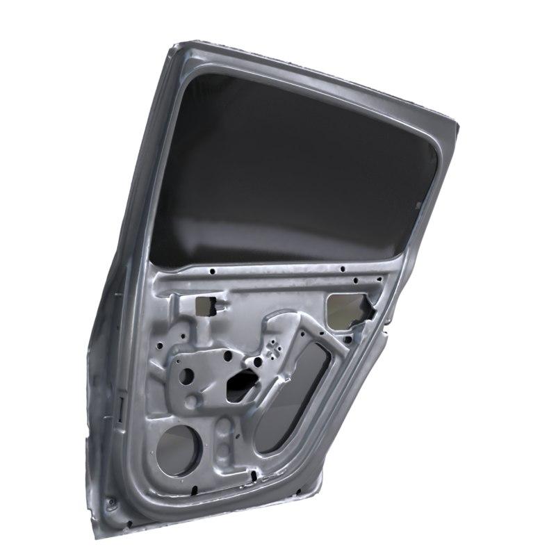 corrected polished car door 3D model