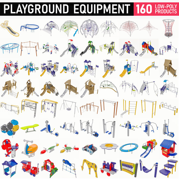 3D 160 playground equipment -