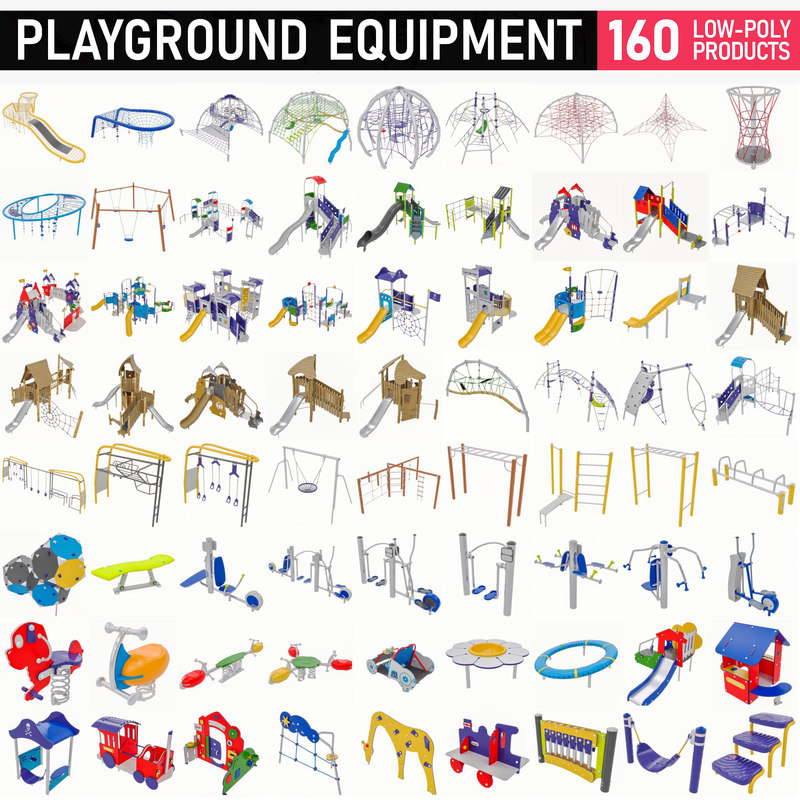 3D 160 playground equipment -