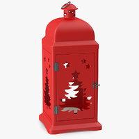 3D lantern christmas model