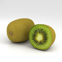 3D kiwi kiwifruit fruit