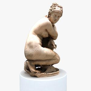 3D greek statue model