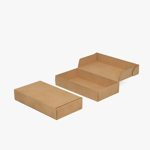 corrugated mailing box 3D