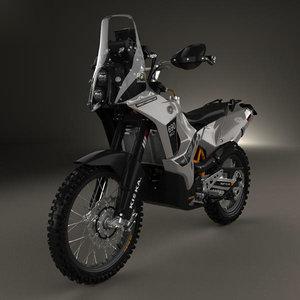 3D ktm enduro rally model