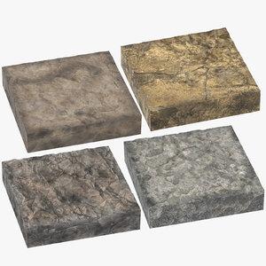 3D rock cross sections model