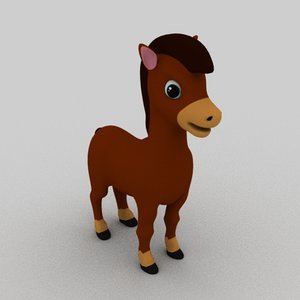 3D horse cartoon animation
