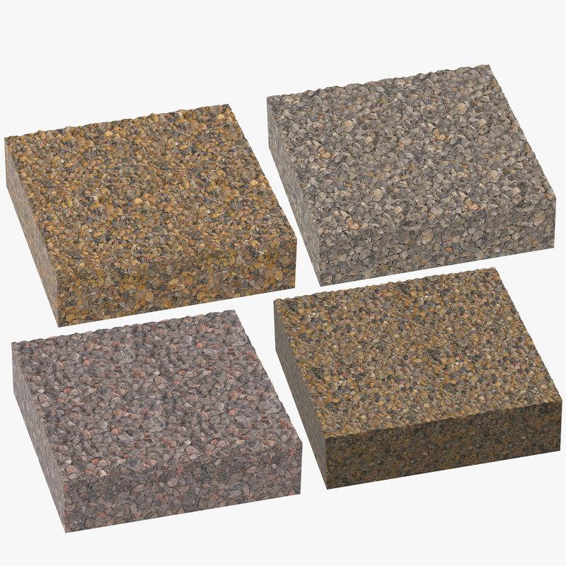 3D gravel cross sections