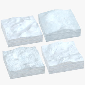 snow cross sections 3D model