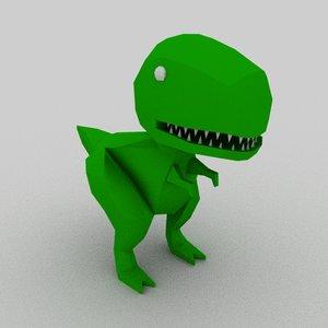 dinosaur cartoon animation 3D model