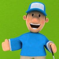 3D fun golfer ! rigged biped model