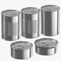 3D food cans model