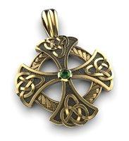 3D celtic cross pendant