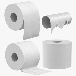 toilet paper poses 3D model