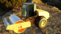 road construction vehicle industry 3D