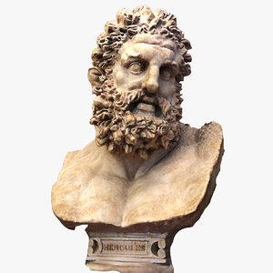 3D model statue god hercules