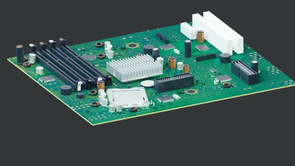 circuit board motherboard computer 3D model