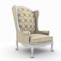 old luxurious armchair model