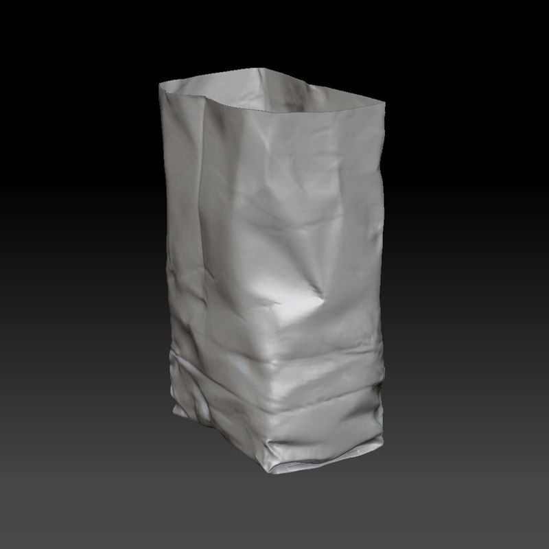 3D paper bag zbrush