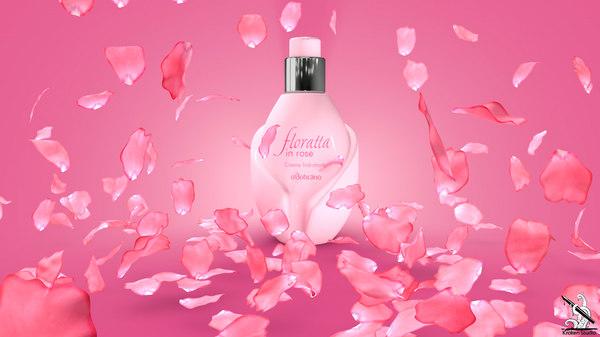 floratta perfume packaging 3D model