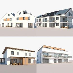 apartment buildings 3D