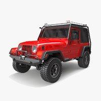 jeep wrangler tj offroad 3D model