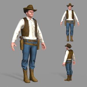 unity cowboy 3D model