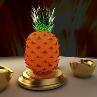 3D chinese gold ingot model