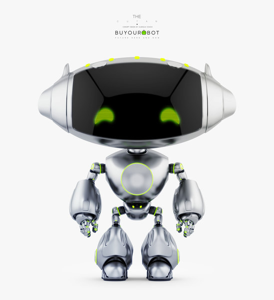 3D cute robotic friendly