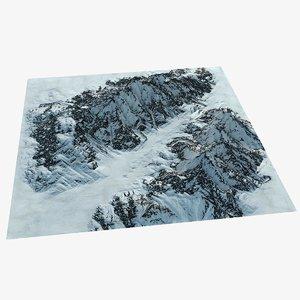mountain range alaska terrain landscape 3D model